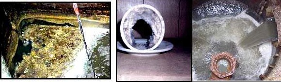 Thông tắc cống với rác thải là dầu mỡ và rác hữu cơ