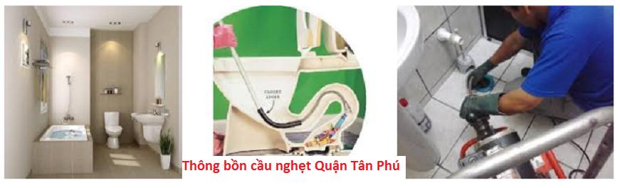 Thông bồn cầu nghẹt Quận Tân Phú